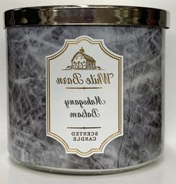 1 Bath & Body Works MAHOGANY BALSAM Large 3-Wick Scented Can
