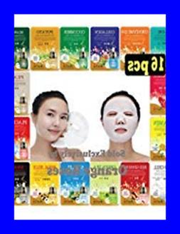OBS Lab 16 Pcs Ultra Hydrating Essence Facial Mask Sheets Ty