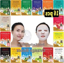16 Pcs Ultra Hydrating Essence Facial Mask Sheets ( 16 Type