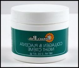 2 ounce Oz. COLLAGEN & PLACENTA NIGHT CREAM Skin Care Anti A