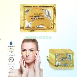 NYKKOLA 20 Pairs Gold Eye Mask Powder Crystal Gel Collagen E