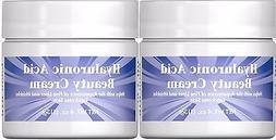 2X Puritan's Pride Hyaluronic Acid Beauty Cream 4 oz Each Sk
