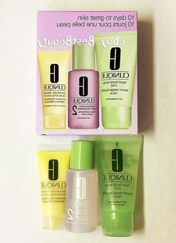 Clinique 3-Step Skin Care System Facial Soap/Clarifying Loti
