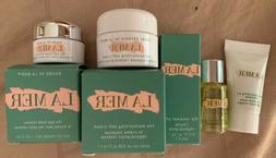LA MER 4pc SET Moisturizing Soft Cream,Renewal Oil,Eye Balm,