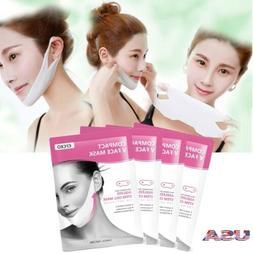 4Pc V-Shape Thin Face Mask Slimming Lifting Firming fat burn