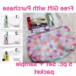Clinique 5-PC Skincare Makeup Gift Set with 3-step sinkcare