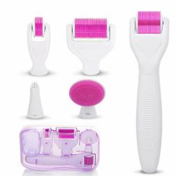 6 in 1 Derma Roller Titanium Needle Skin Care Kit Micro Need