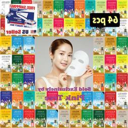 64 pcs Ultra Hydrating Essence Korean Mask Pack, Korean Co