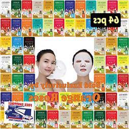 64 pcs Ultra Hydrating Essence Mask, Korean Facial Mask She