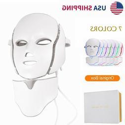 7 Colors LED Light Photon Face Neck Mask Rejuvenation Skin C