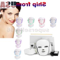 7 Colors LED Light Photon Face Neck Mask Rejuvenation Therap