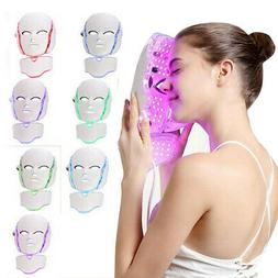 7 Colors LED Light Photon Face Neck Mask Rejuvenation Facial