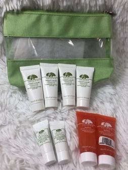 8 Pcs ~ Origins Skincare Cleanser ~ Eye Cream & Makeup Bag ~