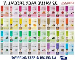 Dermal Korea Collagen Essence Full Face Facial Mask Sheet  N