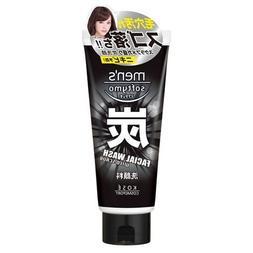 KOSE Men's Softy Mo Facial Wash, Charcoal