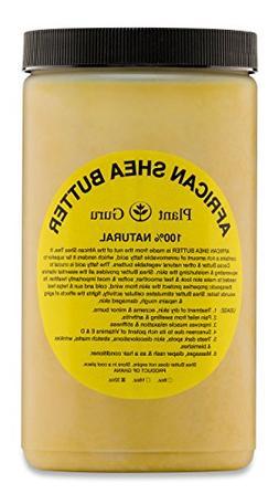 Raw African Shea Butter 32 oz Jar Bulk Unrefined Grade A 100