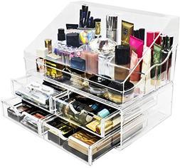 Sorbus Acrylic Cosmetics Makeup Organizer Storage Case Displ