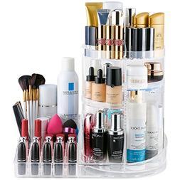 Jerrybox Acrylic Cosmetic & Jewelry Storage Box, 360-Degree