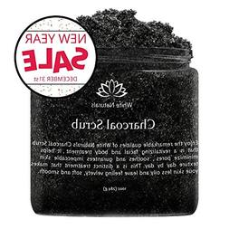 Activated Charcoal Scrub 10 oz By White Naturals: Facial & B