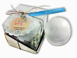 SpaGlo® Baby Gender Reveal BOY Bath Bomb- Giant 8 oz size,