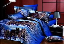 4 PCS Bedding Sets pillowcases Bedlinen Sheets Duvet Cover S
