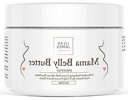Belly Butter 8oz- Fragrance Free, Decadant Cream Helps Preve