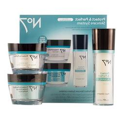 Boots No7 Protect & Perfect Skincare System 1 set package of