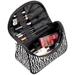 Meolin Large Capacity Makeup Case Cosmetic Organizer Brush B