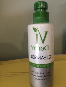 Vi Derm Cleanser For All Skin Types 8 oz Brand New Sealed