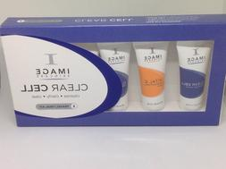 IMAGE SKINCARE CLEAR CELL 5 TUBES TRAVEL KIT SEALED CLEANSE