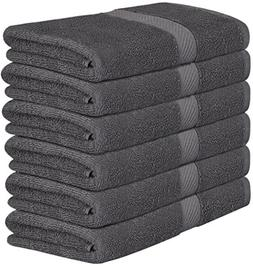 Utopia Towels 100% Cotton Dark Grey Bath Towels Set  Lightwe