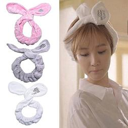 Cute Bunny Big Rabbit Ear Soft Towel Hair Band Wrap Headband