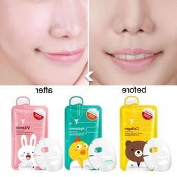 Deep Moisture Face Mask Korean Essence Facial Sheet Pack Ski