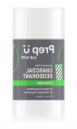 Prep U Dermatologist Tested Charcoal Deodorant for Boys - Al