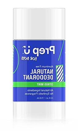 Prep U Deodorant for Boys - All Natural Sensitive Skin Care