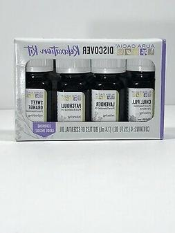 Aura Cacia Discover Relaxation Kit Set of 4 Essential Oils 0