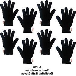 Exfoliating Gloves 4 Pairs Full Body Scrub Exfoliator Great