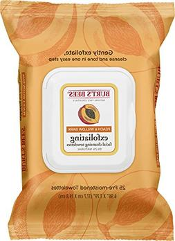 Burt's Bees Facial Cleansing Towelettes, Peach and Willow Ba