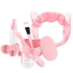 URfashion Facial Mask Bowl 10 in 1 Cat Shape Headband Spray