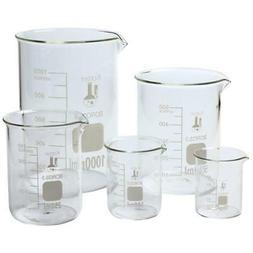 Scientific Glass Lab Pyrex Beaker Piece Set Measuring Cup Me