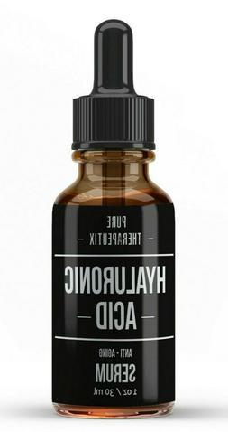 HYALURONIC ACID 100% Pure Anti Aging Hydrating Serum, Plumps