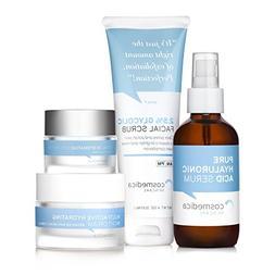 Complete Skincare Kit- Hyaluronic Acid Serum , Glycolic Faci