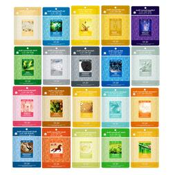 20 PCS Korean Essence Facial Mask Sheet, Moisture Face Mask