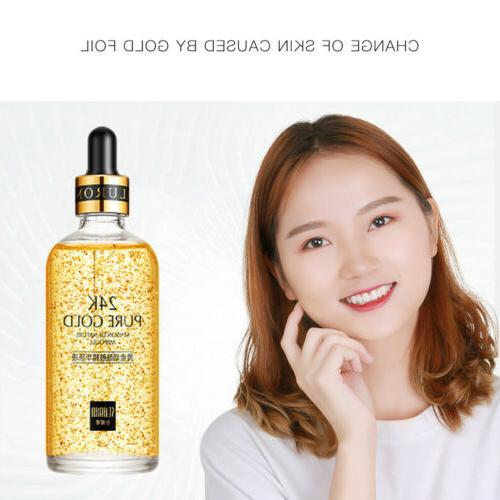 100ml 24k Skin Care Anti wrinkle Anti-Aging Serum Cream