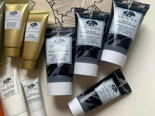 ORIGINS 13pc Lot Skincare Plantscriptions Makeup Bag