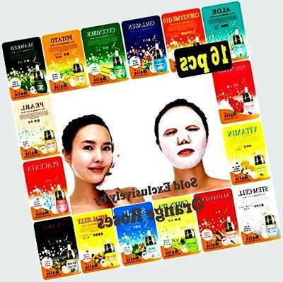 16 pcs Ultra Hydrating Essence Facial Mask Sheets ( 16 type
