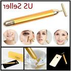 24K Gold Face Roller Massager Beauty Bar Skincare Device Ins