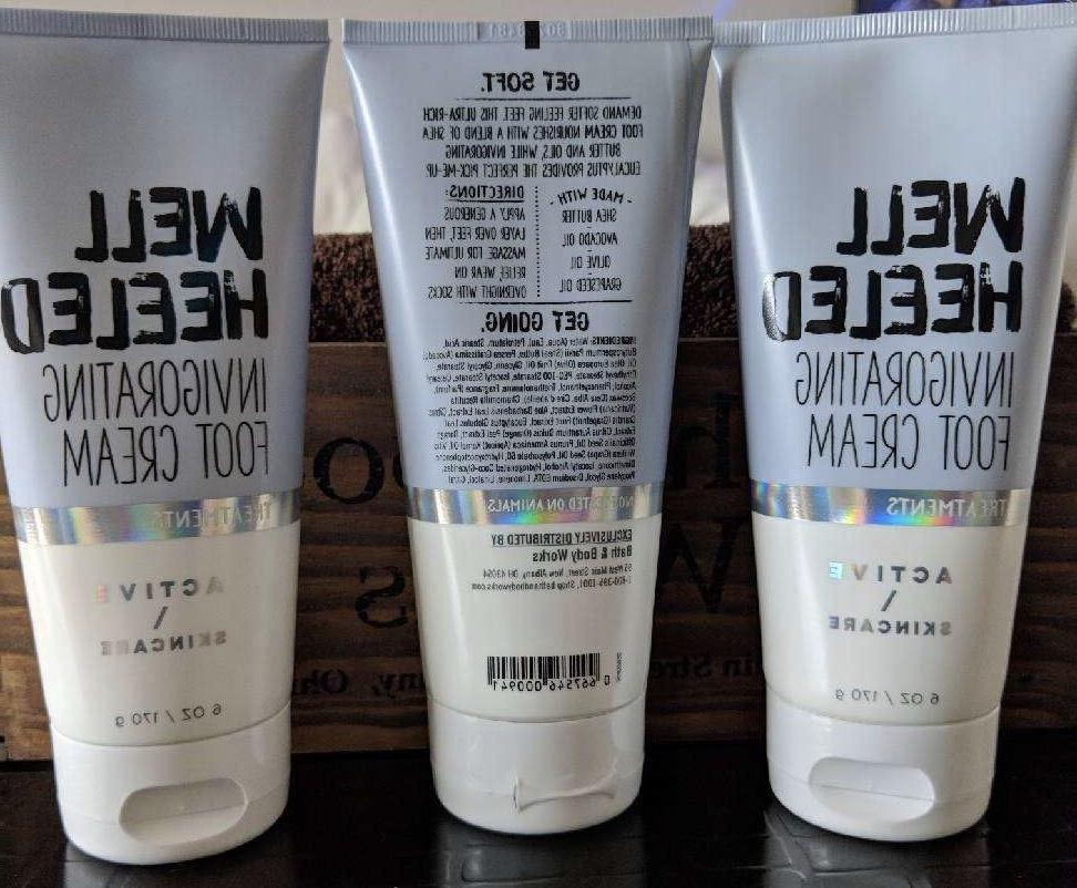 3 cans of Bath & Body Works Active Skincare Well Heeled Invi