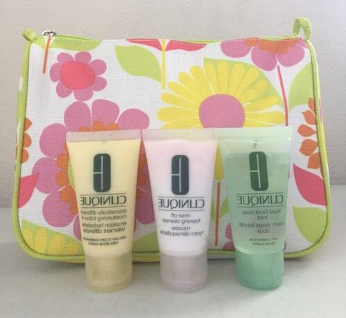 Clinique 3 Step Skincare Kit Travel Set Foaming Cleanser Lot
