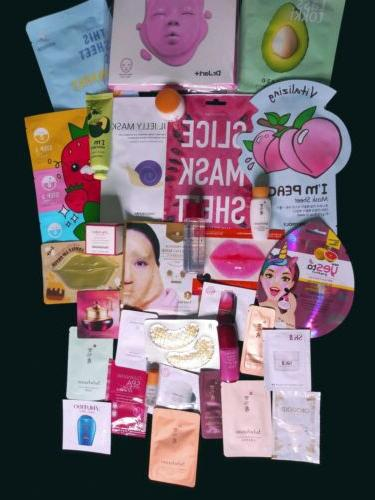 30 High Nice Skincare/Makeup Samples And Size Masks